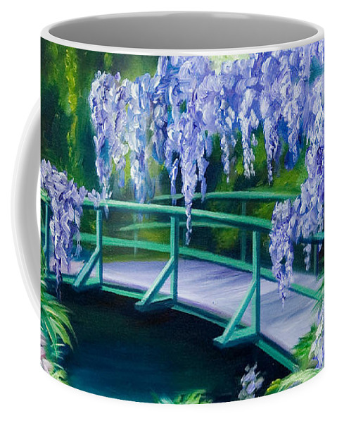 Bright Clouds Coffee Mug featuring the painting Gardens of Givernia II by James Christopher Hill