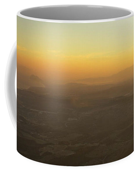 Sunset Coffee Mug featuring the photograph Gibraltar Spain Africa And The Mediterranean Sea by Guido Montanes Castillo
