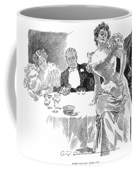 1890s Coffee Mug featuring the photograph Gibson: Dinner Party by Granger