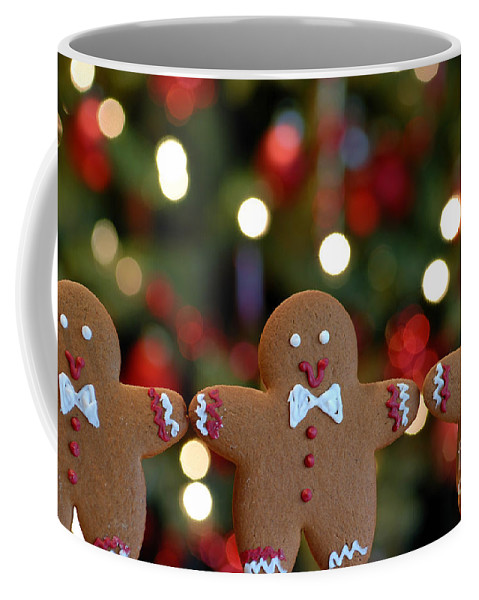 Arms Out Coffee Mug featuring the photograph Gingerbread Men In A Line by Amy Cicconi
