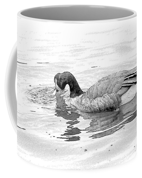 Goose Coffee Mug featuring the photograph Goose In The Water by Alice Gipson