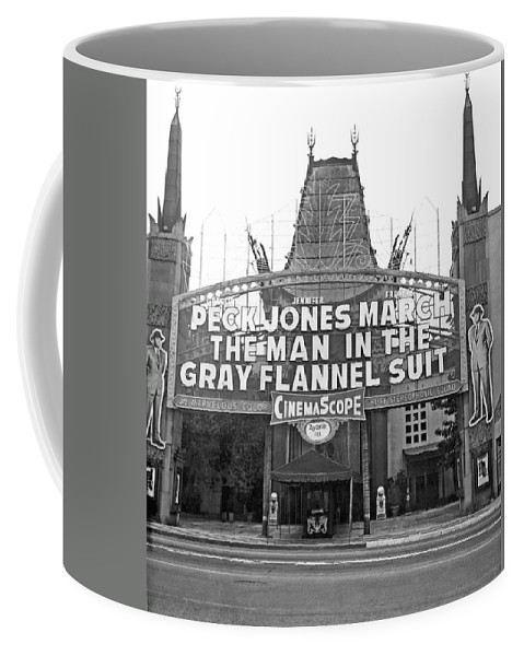 1956 Coffee Mug featuring the photograph Grauman's Chinese Theater by Underwood Archives