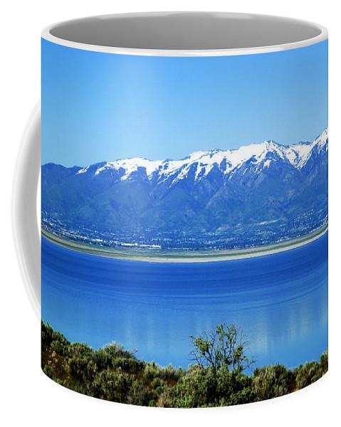 Great Salt Lake Coffee Mug featuring the photograph Great Salt Lake by Bob Pardue