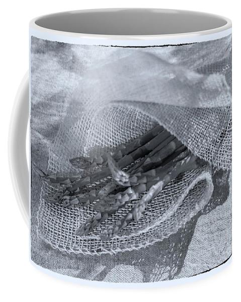 Green Asparagus Coffee Mug featuring the photograph Green Asparagus On Burlab by Iris Richardson