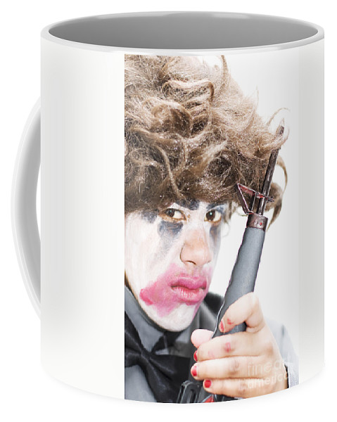 Action Coffee Mug featuring the photograph Gun Wielding Maniac by Jorgo Photography - Wall Art Gallery