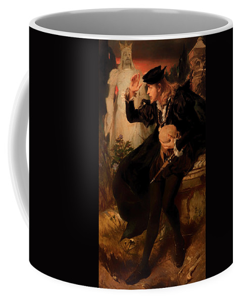 Painting Coffee Mug featuring the painting Hamlet's Vision by Mountain Dreams