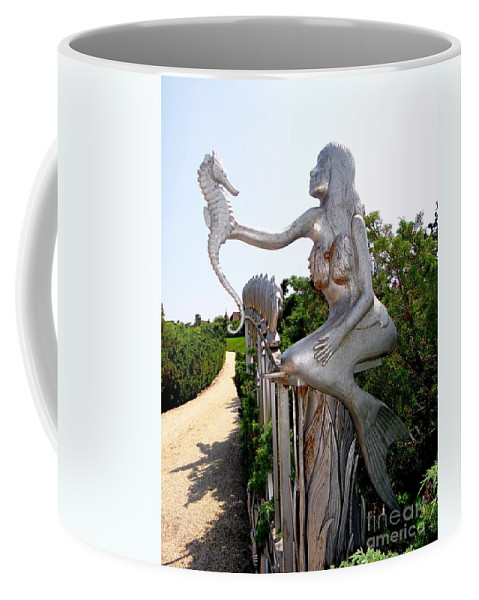 Mermaids Coffee Mug featuring the photograph Hamptons Hideaway by Ed Weidman