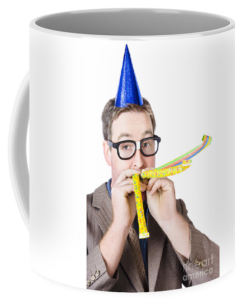 Event Coffee Mug featuring the photograph Handsome Business Man. Party For Many Year Service by Jorgo Photography - Wall Art Gallery