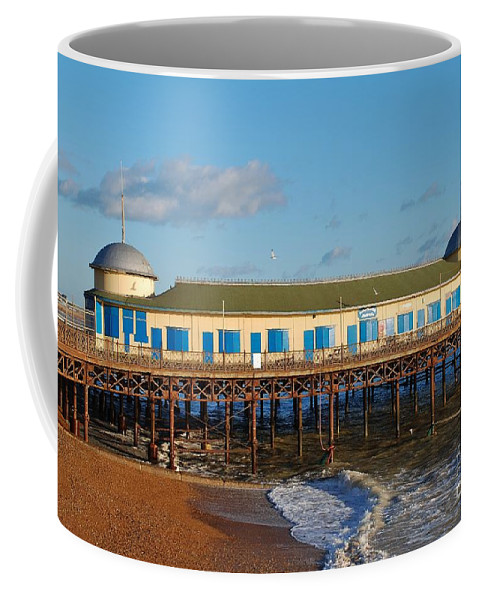 Pier Coffee Mug featuring the photograph Hastings Pier by David Fowler