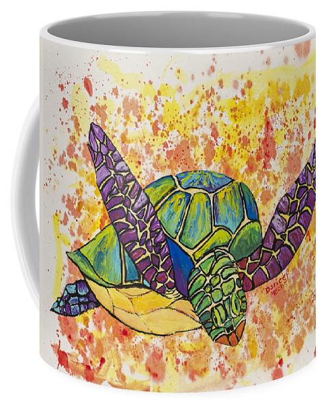 Animal Coffee Mug featuring the painting Hawaiian Sea Turtle by Darice Machel McGuire