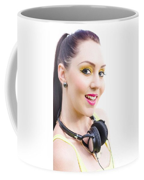 Caucasian Coffee Mug featuring the photograph Headphones by Jorgo Photography - Wall Art Gallery
