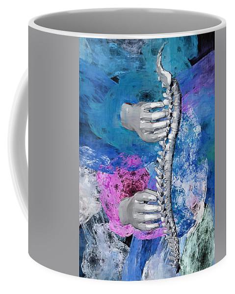 Chiropractor Coffee Mug featuring the digital art Heealing Touch by Joseph Ventura