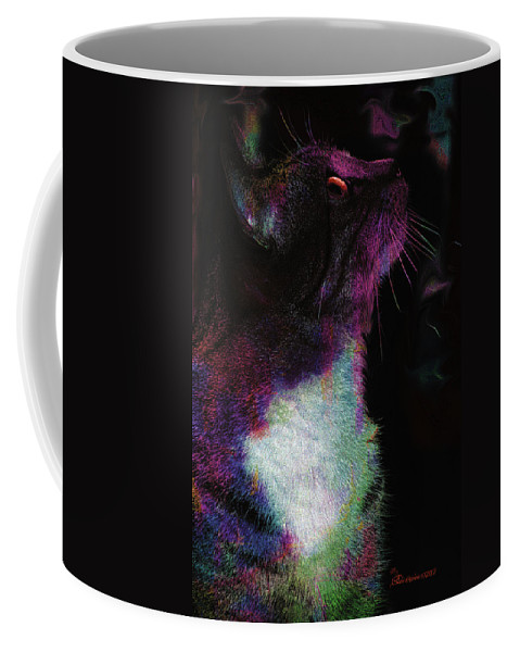 Cat Coffee Mug featuring the photograph Henry by Ericamaxine Price