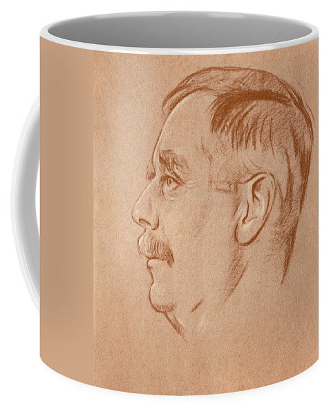 1920 Coffee Mug featuring the drawing Herbert George Wells (1866-1946) by Granger
