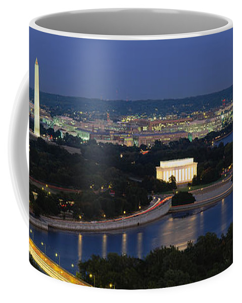 Photography Coffee Mug featuring the photograph High Angle View Of A City, Washington by Panoramic Images