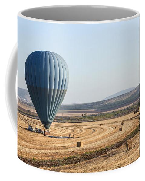 Jezreel Valley Coffee Mug featuring the photograph Hot Air Balloon by Gal Eitan