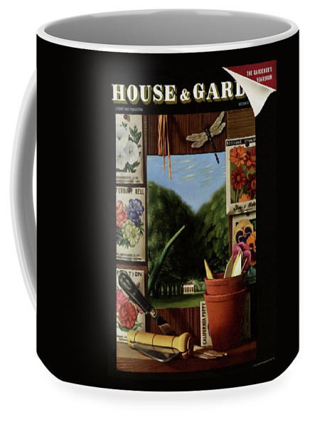 House And Garden Coffee Mug featuring the photograph House And Garden Cover by Pierre Roy