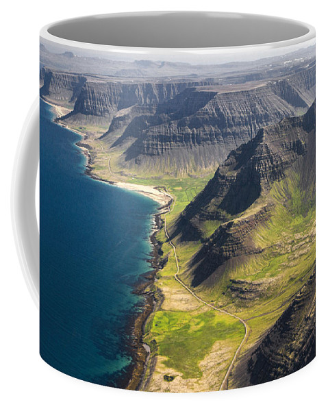 Flight Coffee Mug featuring the photograph Iceland Plateau Mountains by For Ninety One Days