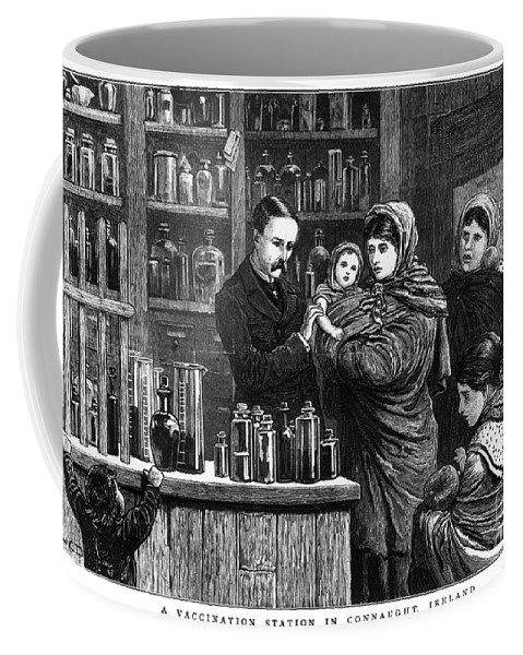 1880 Coffee Mug featuring the photograph Ireland: Vaccination, 1880 by Granger