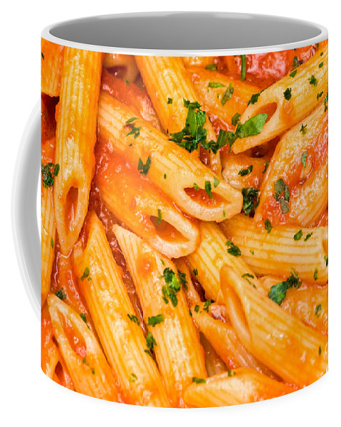 Cheese Coffee Mug featuring the photograph Italian Pasta - Penne All'arrabbiata by Luciano Mortula