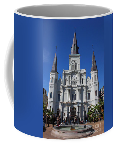 Jackson Square Coffee Mug featuring the photograph Jackson Square by Bev Conover