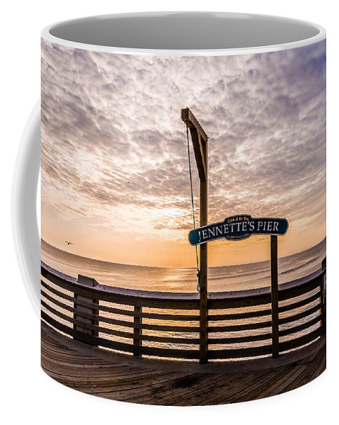 Jeanette's Pier Coffee Mug featuring the photograph Jeanette's Pier by Stacy Abbott