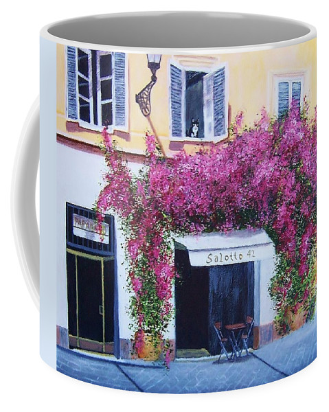 Rome Coffee Mug featuring the painting Jill's Roma by Jamie Frier