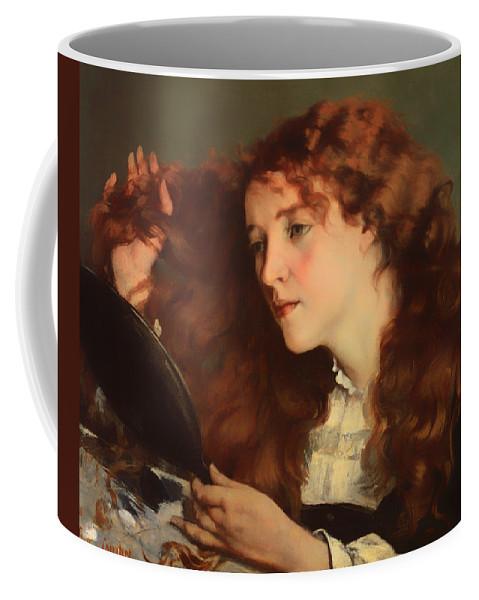 Painting Coffee Mug featuring the painting Jo The Beautiful Irish Girl by Mountain Dreams