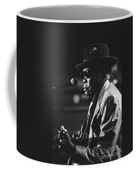 Blues Singer Coffee Mug featuring the photograph John Lee Hooker by Concert Photos