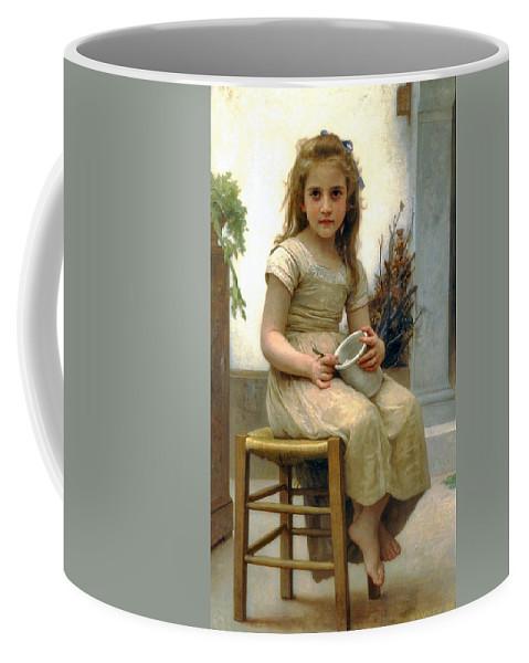 Just A Taste Coffee Mug featuring the digital art Just A Taste by William Bouguereau