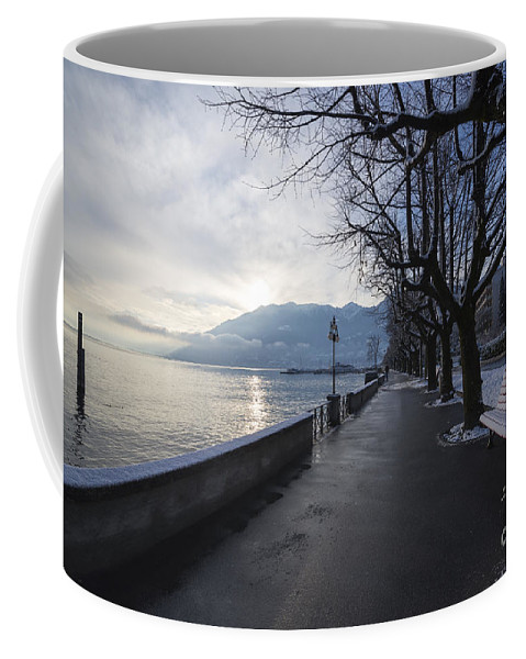 Lakefront Coffee Mug featuring the photograph Lakeside by Mats Silvan