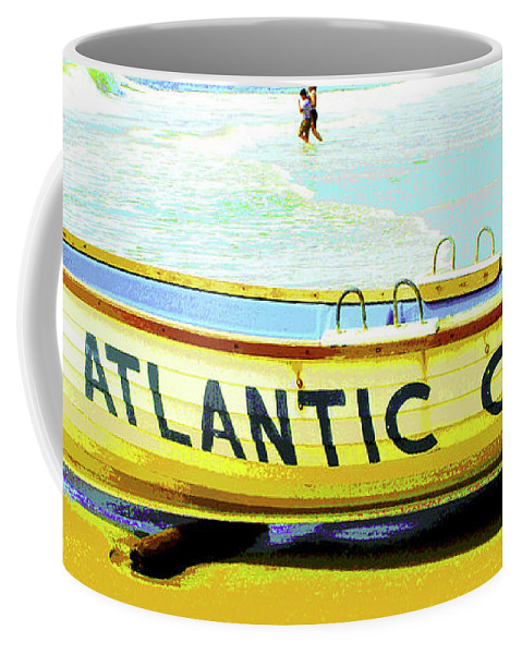 Atlantic City Coffee Mug featuring the digital art Lifeboat Atlantic City New Jersey by A Gurmankin