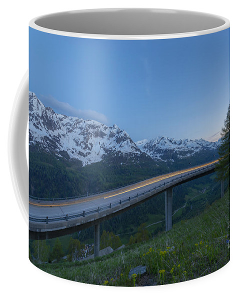 Road Coffee Mug featuring the photograph Light Trails by Mats Silvan