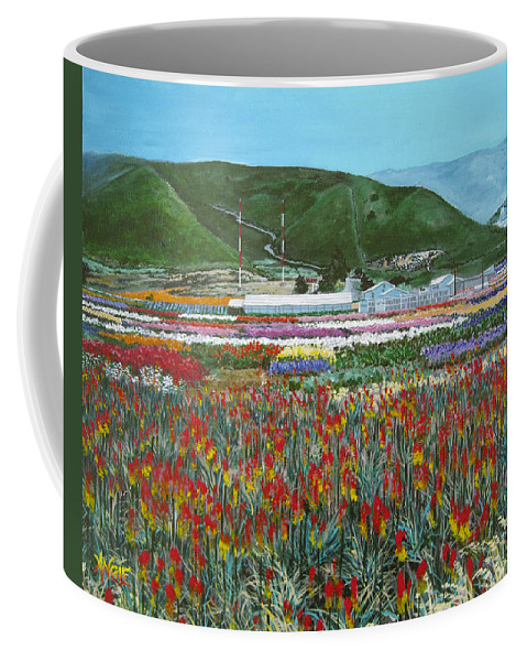 Flowers Coffee Mug featuring the painting Lookout Point by Angie Hamlin