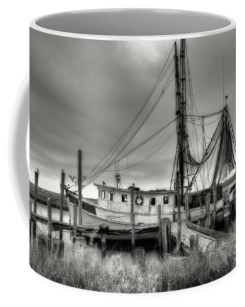 Shrimp Boat Coffee Mug featuring the photograph Lowcountry Shrimp Boat by Scott Hansen