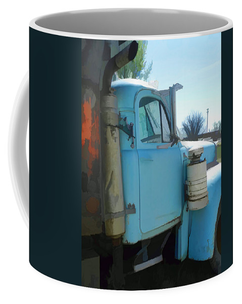 Vintage Mack Truck Coffee Mug featuring the photograph Mack Truck by Cathy Anderson