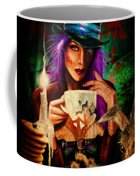 Cars Coffee Mug featuring the digital art Mad Hatter by Doug Schramm
