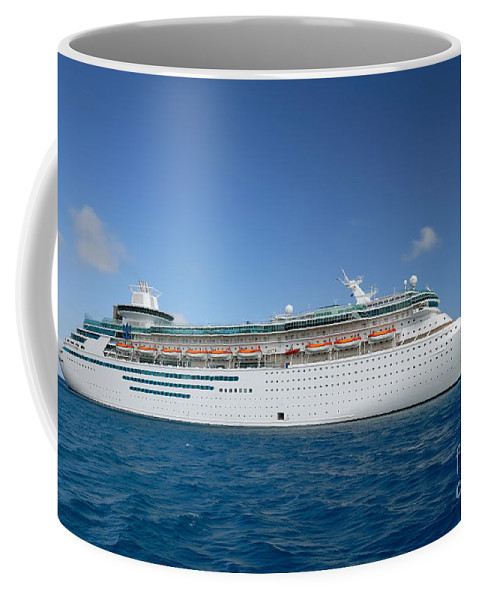 Cruise Coffee Mug featuring the photograph Majesty Of The Seas At Coco Cay by Amy Cicconi