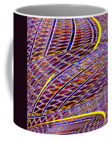 Abstract Coffee Mug featuring the digital art Making Tracks by Wendy Wilton