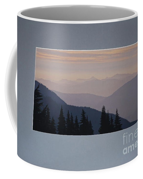 Mountains Coffee Mug featuring the photograph Many Layers by Sharon Elliott