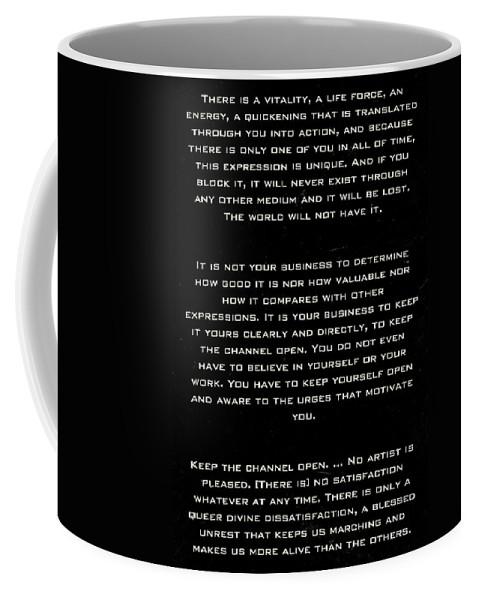 Sign Coffee Mug featuring the photograph Martha Graham by Paul Fell