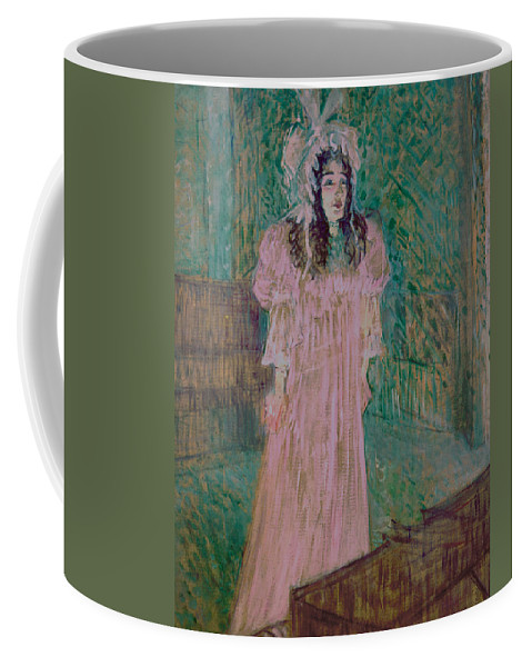 Toulouse-lautrec Coffee Mug featuring the painting May Belfort by Henri de Toulouse-lautrec