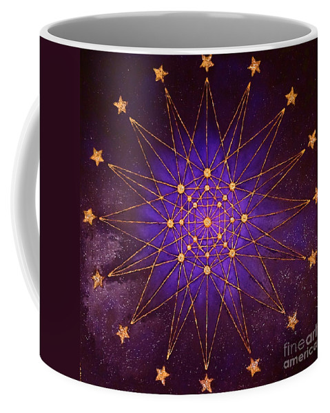 Coffee Mug featuring the painting Mechanism Of Lords by Elena Markina