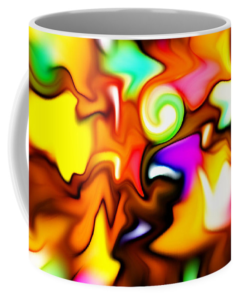 Color Colors Colorful Melting Abstract Expressionism Coffee Mug featuring the painting Melting Colors by Steve K