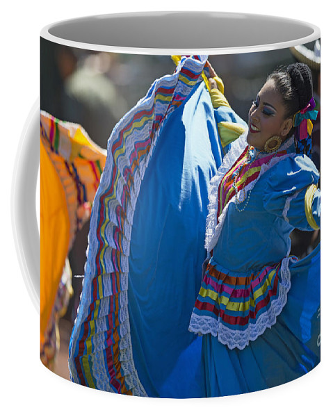 Mexican Coffee Mug featuring the photograph Mexican Folk Dancers by Jason O Watson