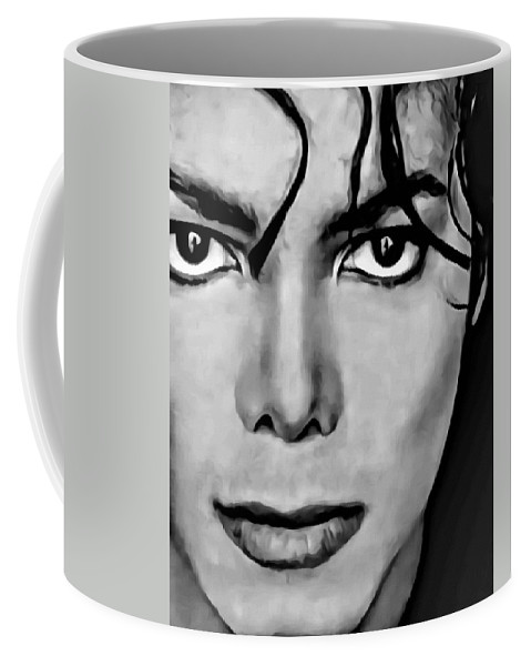 Michael Jackson Coffee Mug featuring the painting Michael by Florian Rodarte