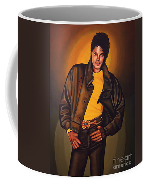 Michael Jackson Coffee Mug featuring the painting Michael Jackson by Paul Meijering