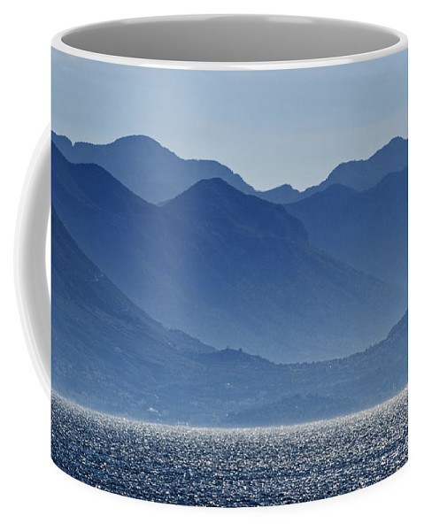 Croatia Coffee Mug featuring the photograph Misty Mountains by Paul and Helen Woodford