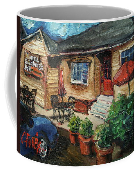 Momma G Coffee Mug featuring the painting Momma G's by Carole Foret
