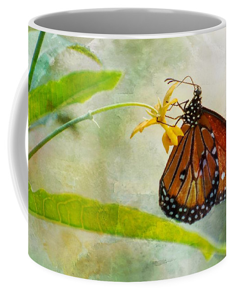 Butterfly Coffee Mug featuring the photograph Queen Butterfly Danaus Gilippus by Michael Moriarty